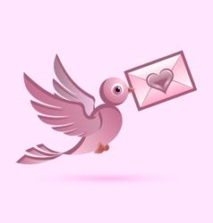 Homing postal pigeon vector