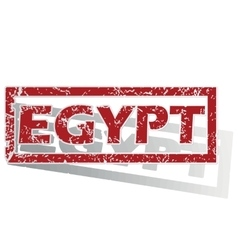 Egypt outlined stamp vector