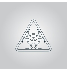 Black biohazard symbol icon isolated vector