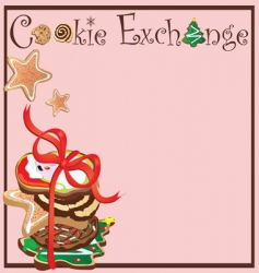 Cookie exchange party vector
