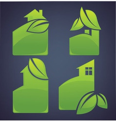 Eco cottages vector