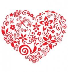 Blooming heart vector
