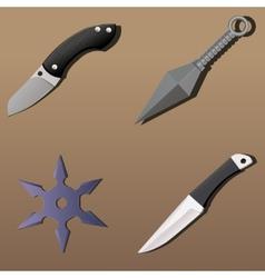 Realistic weapon set - part 1 vector
