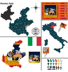 Map of veneto vector