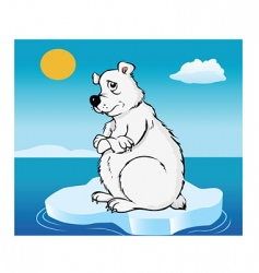 Polar bear global warming vector