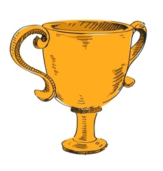 Prize trophy icon vector