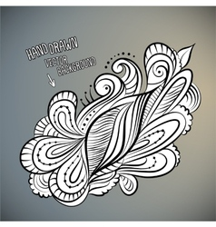 Floral abstract hand drawn design vector