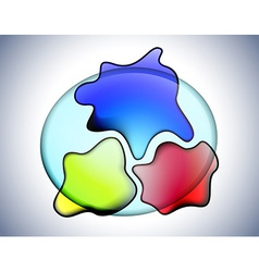 Transparent glass amoebas vector