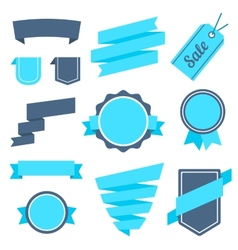 Stickers and badges set 7 flat style vector