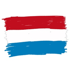 Flag of luxembourg handmade vector