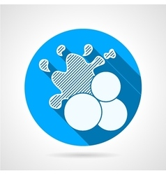Paintball balls round icon vector