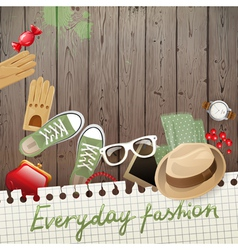 Everyday fashion background vector