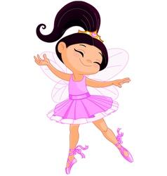 Little fairy ballerina vector