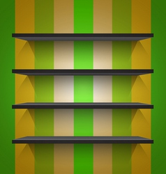 Empty black shelves vector