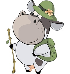 A small cow cartoon vector