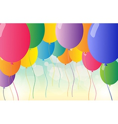 Colorful balloons for a party vector