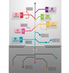 Business tree info graphics vector