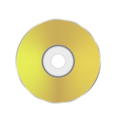 Gold compact disc icon vector
