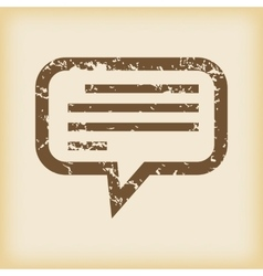 Grungy message icon vector