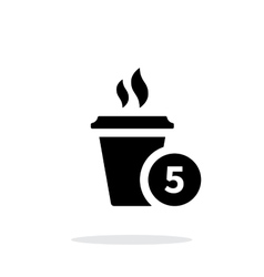 Coffe cup with number simple icon on white vector