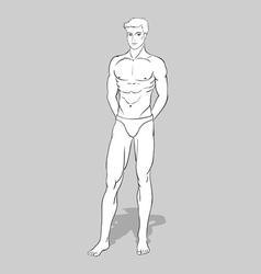 Male fashion figurine vector