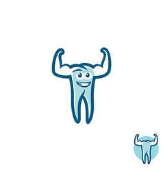 Tooth athlete symbol vector