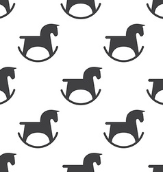 Horse toy seamless pattern vector