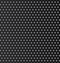 Steel honeycomb patterned dark background vector