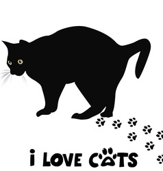 I love cats card vector