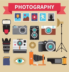 Photography - icons set - creative design vector