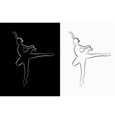 Image of a ballerina vector
