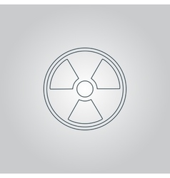Radiation icon vector