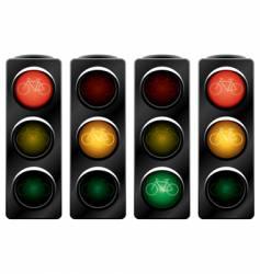 Traffic light for bikes vector