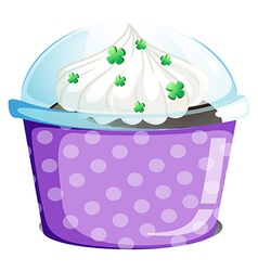 A disposable container with a cake vector