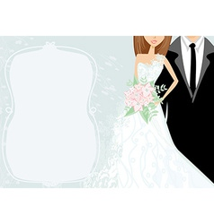 Funny wedding invitation card vector