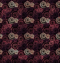 Vintage red spiral seamless vector