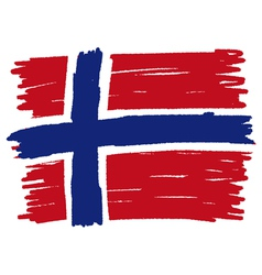 Flag of norway handmade vector