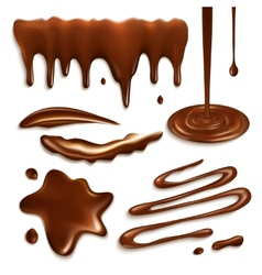 Chocolate drops set vector