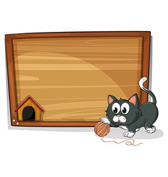 A board with a cat vector