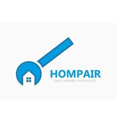 Logo of repair of houses vector