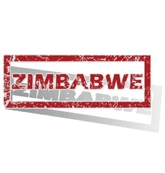 Zimbabwe outlined stamp vector