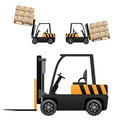 Forklift loader vector