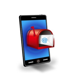 Smart phone with mail box vector