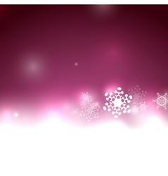 Purple snow christmas background vector