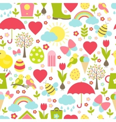Pretty delicate seamless spring pattern vector