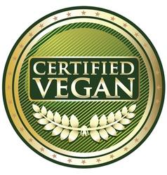 Certified vegan label vector