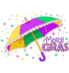 Mardi gras umbrella vector