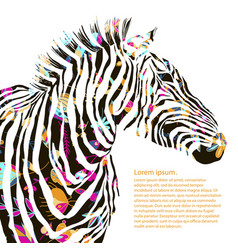 Animal watercolor decorative vector