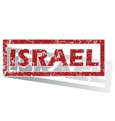 Israel outlined stamp vector