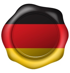 Wax seal with the germany flag vector